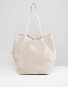 Замшевая сумка-шоппер ASOS - Розовый