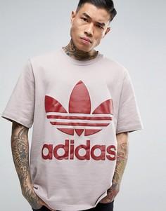Свободная серая футболка adidas Originals AC BR8702 - Серый