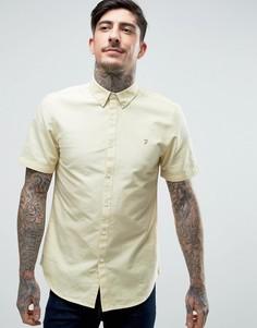Желтая оксфордская рубашка с короткими рукавами Farah Brewer - Желтый
