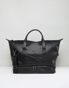 Черная сумка из искусственной кожи ASOS - Черный