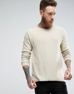 Топ из переработанной джинсовой ткани Nudie Jeans Co Tomas - Бежевый