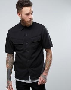 Рубашка с короткими рукавами и карманами Nudie Jeans Co Svante - Черный