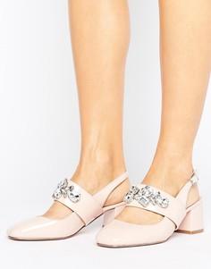 Туфли на каблуке с отделкой ASOS STAR OF THE SHOW - Бежевый