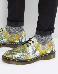Туфли с принтом и 3 парами люверсов Dr Martens 1461 George & Dragon - Мульти