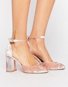 Туфли на прозрачном блочном каблуке ASOS PRIMA DONNA - Розовый