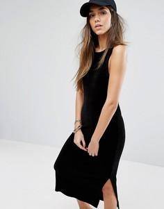 Платье-майка из эластичного велюра Juicy Couture Black Label Trk - Черный