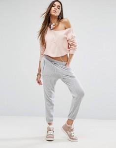 Серебристые штаны Juicy Couture Black Label - Серый