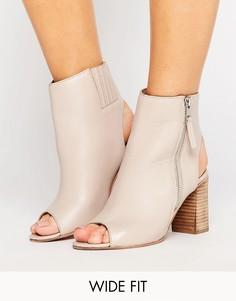 Кожаные туфли для широкой стопы ASOS EARNEST - Бежевый