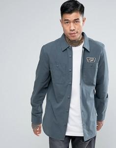 Серая рубашка с нашивкой Vans Rosemont VA2X655RW - Серый