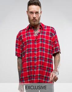 Фестивальная рубашка классического кроя Reclaimed Vintage Inspired - Красный