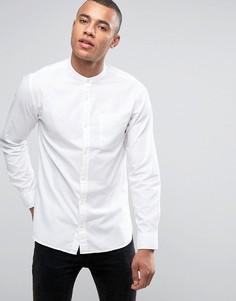 Узкая оксфордская рубашка с воротом на пуговице Jack & Jones Premium - Белый