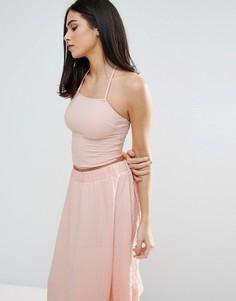 Укороченный топ‑халтер Unique 21 - Розовый