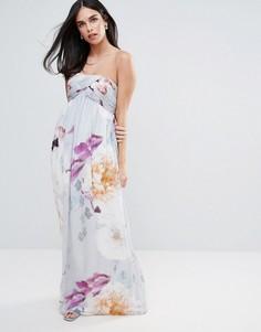 Платье-бандо макси с цветочным принтом Little Mistress - Мульти
