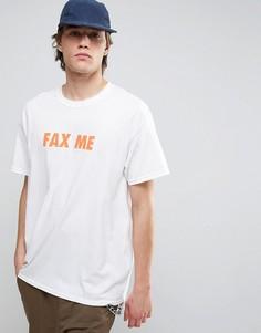 Футболка с принтом Fax Me на спине New Love Club - Белый