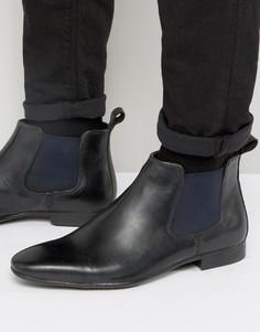 Черные кожаные ботинки челси Silver Street Carnay - Черный