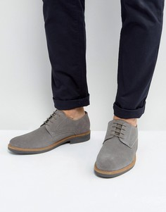 Серые замшевые туфли дерби Silver Street - Серый