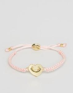 Браслет дружбы с сердцем Juicy Couture - Розовый
