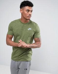 Зеленая футболка с принтом Nike 834699-387 - Зеленый