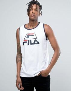 Майка с крупным логотипом Fila - Белый