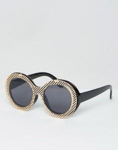 Овальные очки с прозрачными стеклами ASOS - Черный