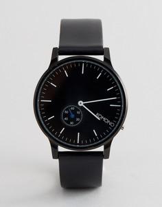 Часы с черным кожаным ремешком Komono Winston - Черный