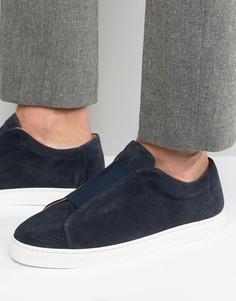 Замшевые кроссовки-слипоны Selected Homme David - Темно-синий