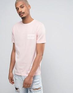 Розовая футболка Heros Heroine - Розовый