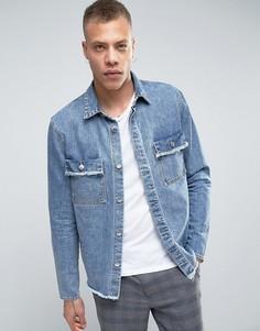 Синяя куртка-рубашка Cheap Monday DNM Recap - Синий