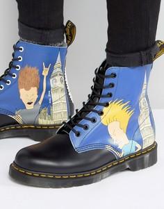 Ботинки с принтом Бивиса и Баттхеда Dr Martens 1460 Pascal - Синий