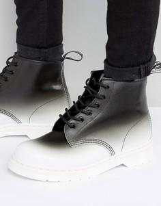 Ботинки с 6 парами люверсов и эффектом деграде Dr Martens 101 - Черный