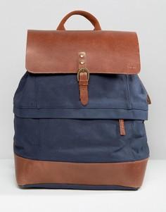 Темно-синий рюкзак с кожаной отделкой Timberland - Темно-синий