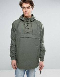 Куртка-ветровка цвета хаки со шнуровкой ASOS - Зеленый