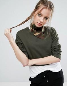 Шейный платок с камуфляжным принтом ASOS - Зеленый