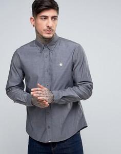 Черная оксфордская рубашка классического кроя с маленьким логотипом Pretty Green Oldbury - Черный