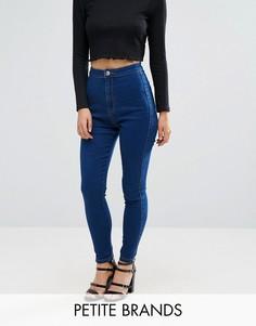 Эластичные джинсы скинни с завышенной талией Missguided Petite Vice - Синий