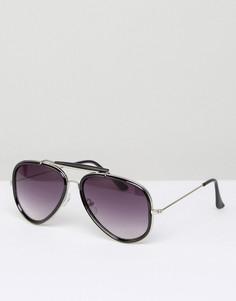 Черные солнцезащитные очки-авиаторы D-Struct - Черный