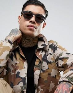 Квадратные солнцезащитные очки в матовой черной оправе Raen Suko - Черный