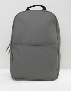 Серый рюкзак Rains Field - Черный