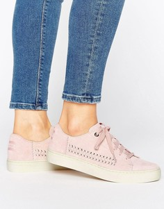 Бледно-розовые замшевые кроссовки TOMS Lenox - Розовый