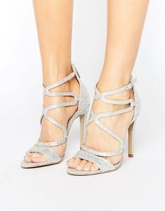 Серебристые босоножки на каблуке с ремешками Carvela Gayla - Серебряный