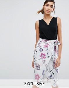 Платье миди 2 в 1 с цветочным принтом Closet London - Мульти