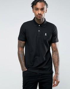 Черная футболка-поло Psycho Bunny - Черный