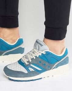 Синие стеганые кроссовки Saucony Grid SD Pack S70308-3 - Синий
