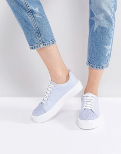 Кроссовки на шнуровке ASOS DAZZLE - Синий