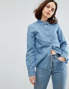 Узкая джинсовая рубашка Weekday - Синий