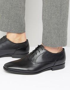 Оксфордские туфли с квадратным носком HUGO by Hugo Boss - Черный