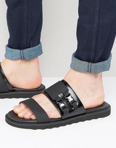Кожаные сандалии с пряжками HUGO by Hugo BossDeight - Черный