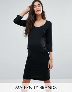 Платье из органического хлопка с рукавами 3/4 Mama.licious - Черный