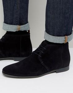 Замшевые ботинки HUGO by Hugo Boss Paris - Темно-синий