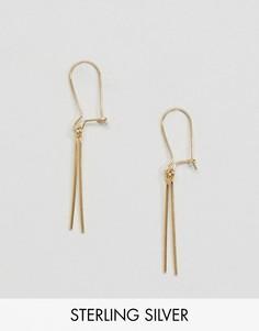 Позолоченные серебряные серьги ASOS - Золотой